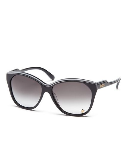 47a3aba862 Black cat eye sunglasses with gold star accent on lens from Chloe ...