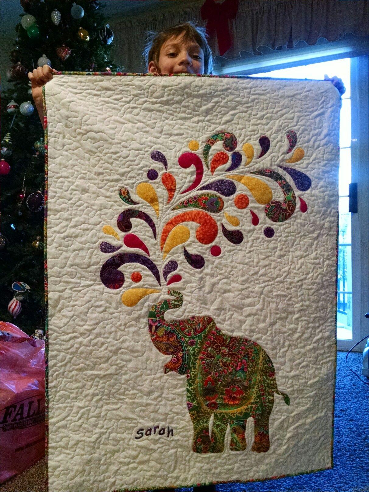 Sarah Zeleniaks Quilt Dec 2016 Pattern Paisley Splash