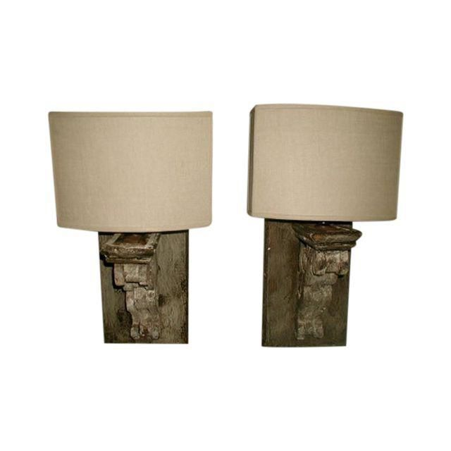 Antique Gray Corbel Lamp Iron Wall Sconces Candle Wall Sconces Wall Mounted Lamps