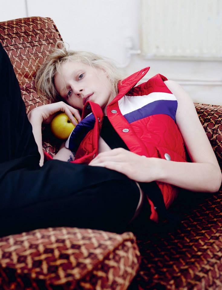 Julia Nobis by Willy Vanderperre for i-D Summer 2014 - Miu Miu