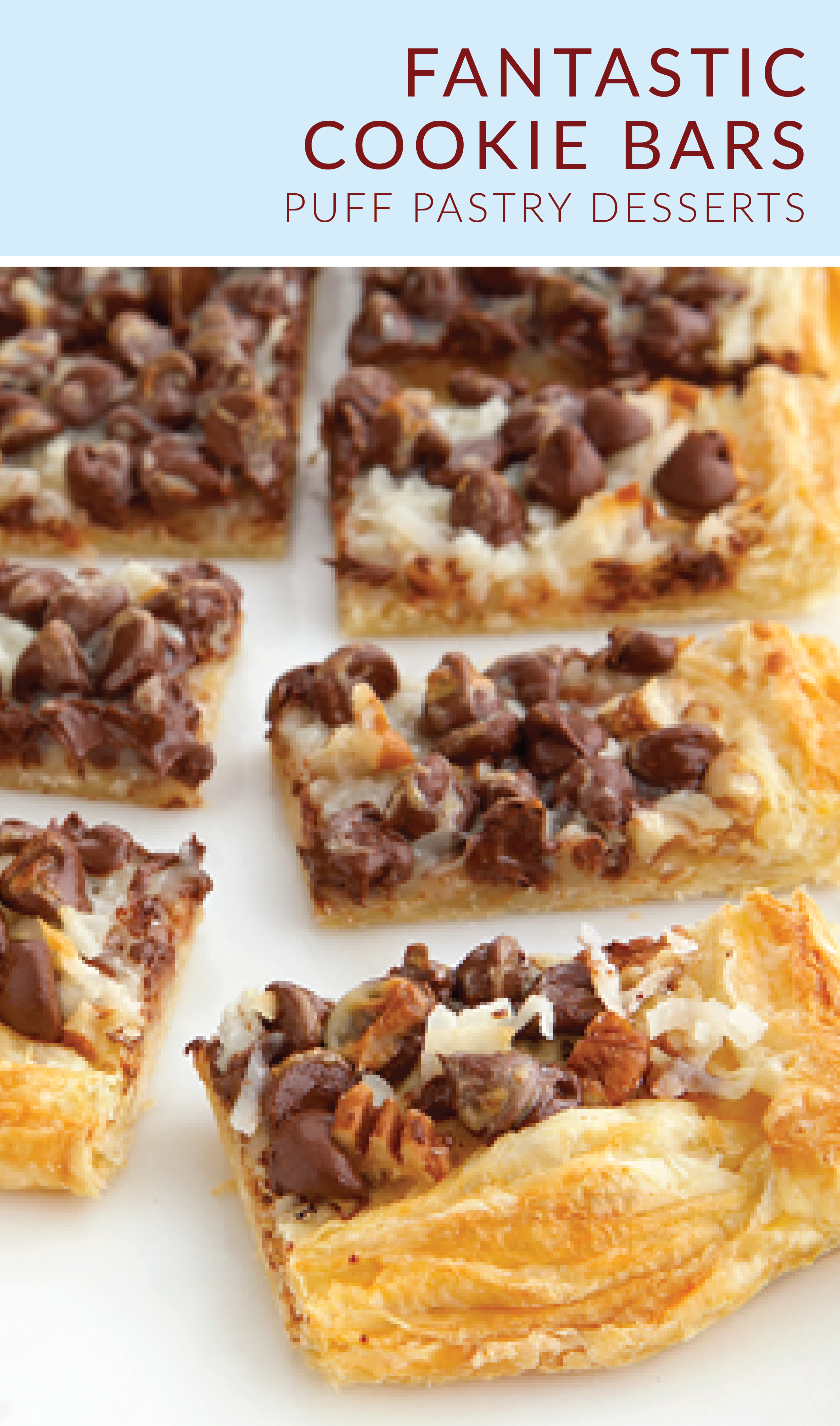 Fantastic Cookie Bars Recipe Cookie Bars Puff Pastry Desserts Pepperidge Farm Puff Pastry