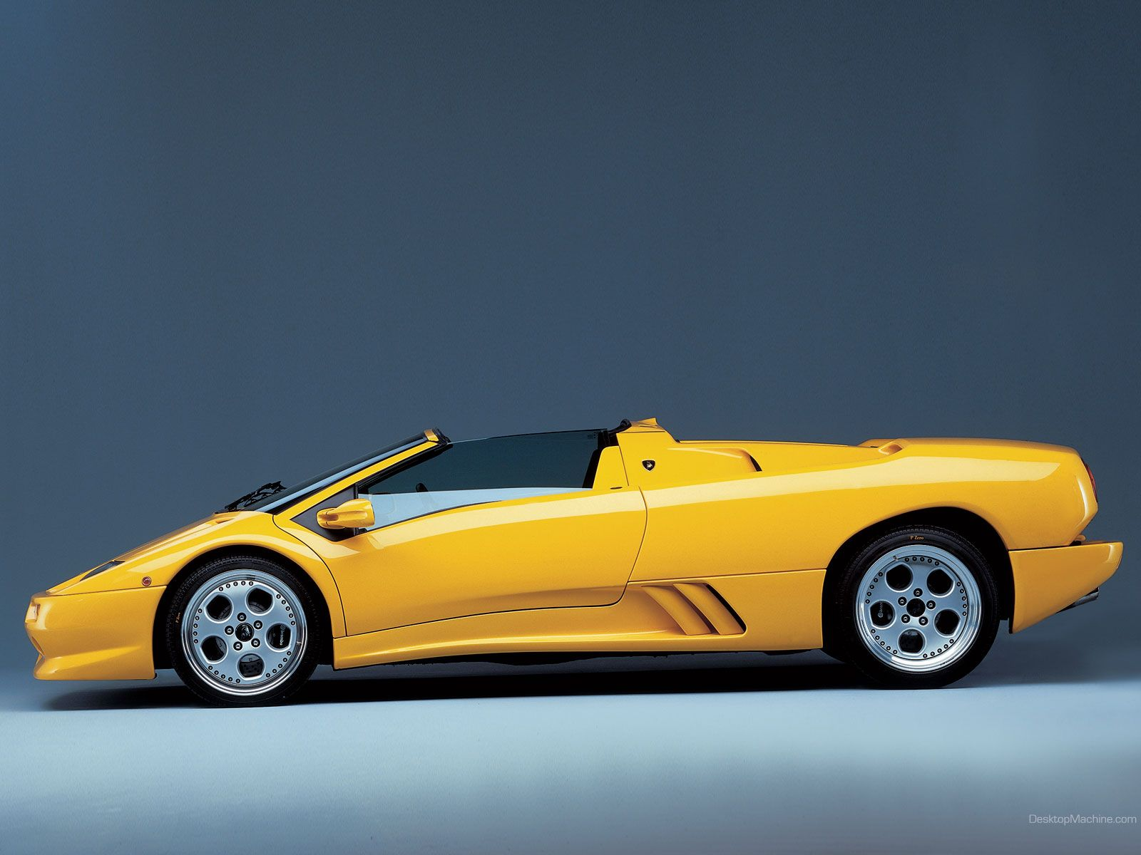 Lamborghini Diablo Yellow Lamborghini Diablo Roadster Left Side 02
