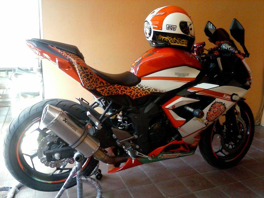 Modifikasi Motor Kawasaki Ninja 250 RR Mono modif siap kontes ...