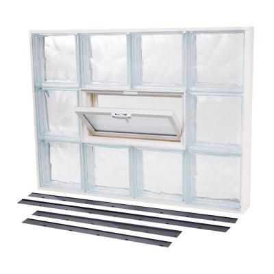 Tafco Windows 31 625 In X 23 625 In Nailup2 Wave Pattern Glass Block Window Glass Block Windows Glass Blocks Windows
