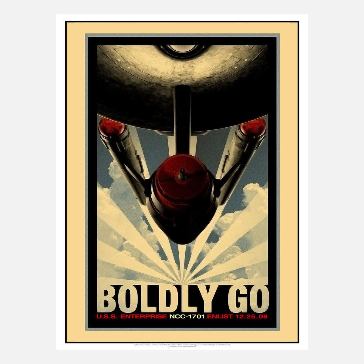 Boldy Go Retro Poster