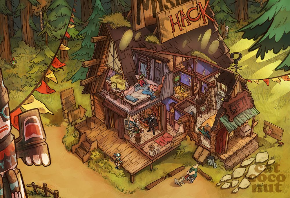 Mystery shack by catcoconut on deviantart oh my gosh look - The lion in the living room netflix ...