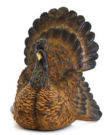 Love this Sitting Turkey Figurine on #zulily! #zulilyfinds