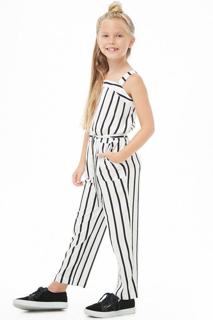 ff7ceea9a4 Girls Striped Jumpsuit (Kids) | close in 2019 | Jumpsuits for girls ...