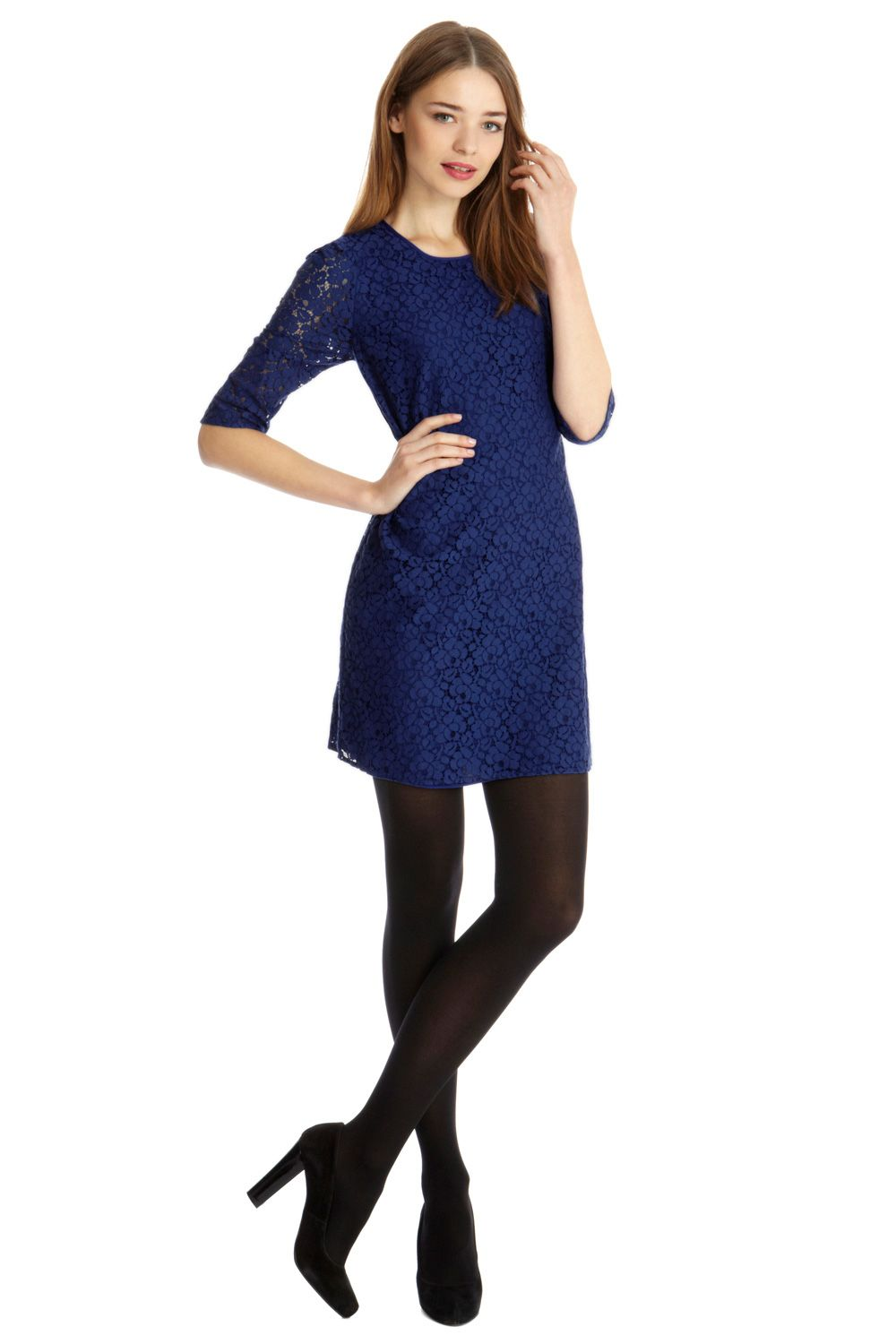 Lace Shift Dress | Blue | Oasis Stores