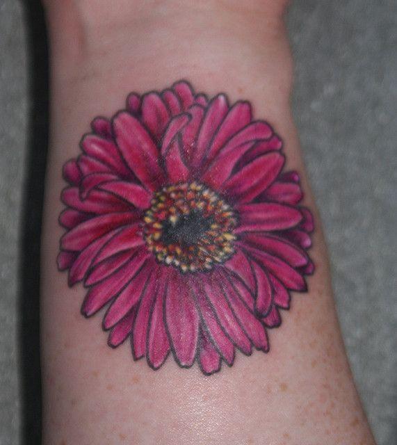Gerbera Daisy Wrist Shot With Images Daisy Tattoo Tattoos