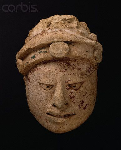 Mayan Sculpture Head of a Dignitary