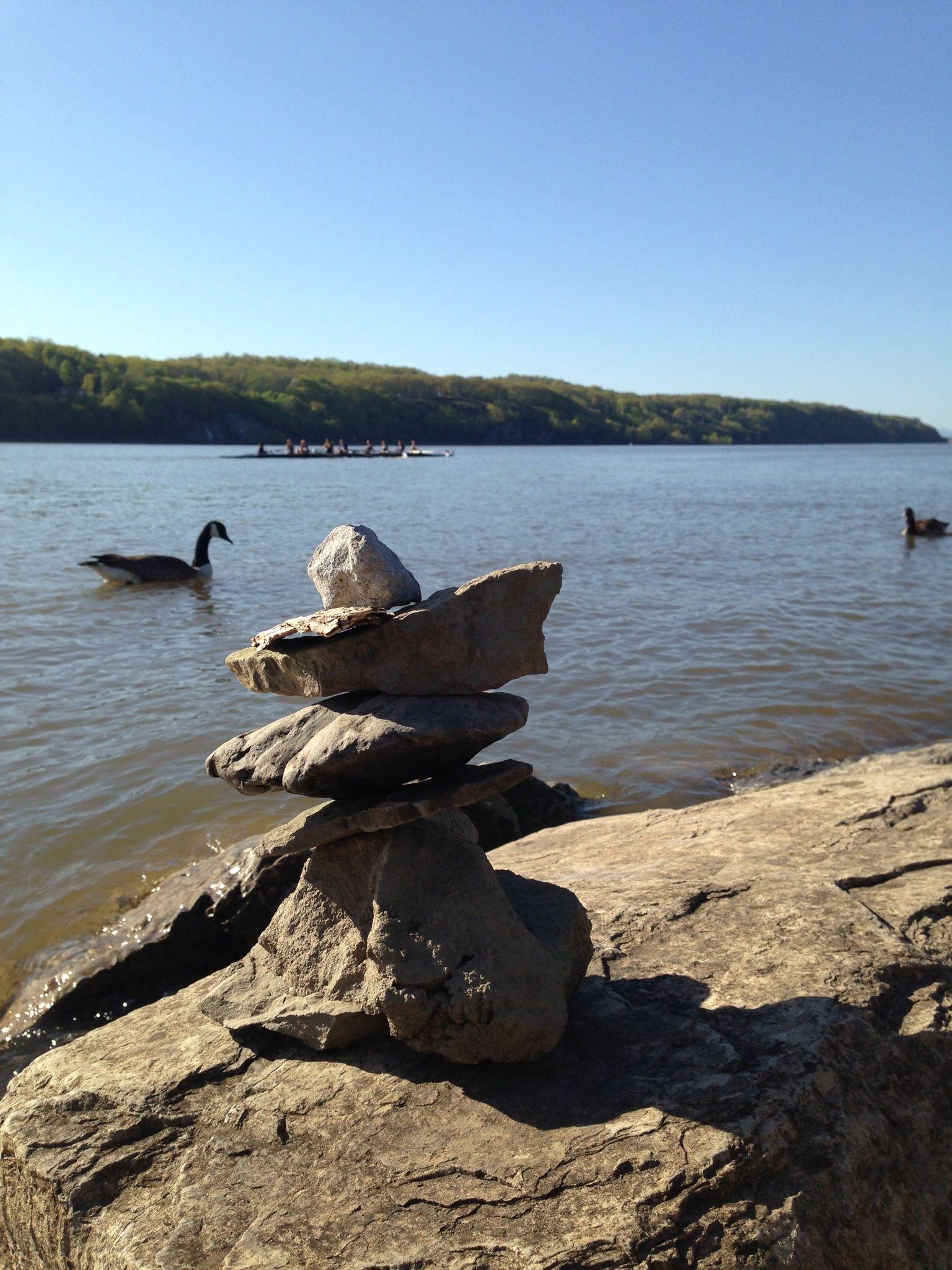 Stacked rocks near Marist college