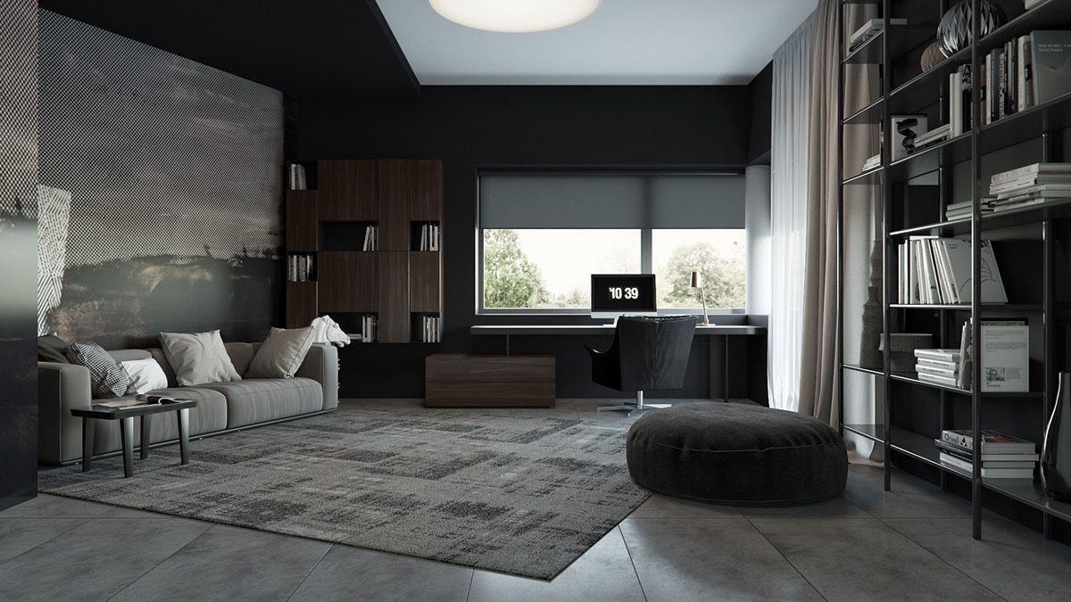 Merveilleux 3 Living Spaces With Dark And Decadent Black Interiors