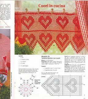 Heart valance with diagram filet crochet crochet filet heart valance with diagram filet crochet ccuart Images