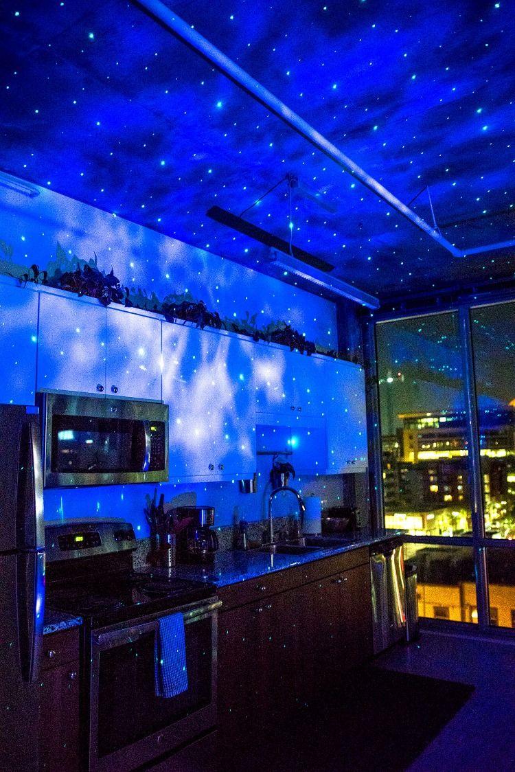 Skylite Galaxy Projector Man Cave Home Bar Laser Lights Studio Room