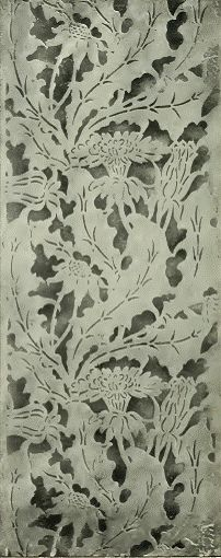 August Endell 1898    Wallpaper design by August Endell, produced in 1898.