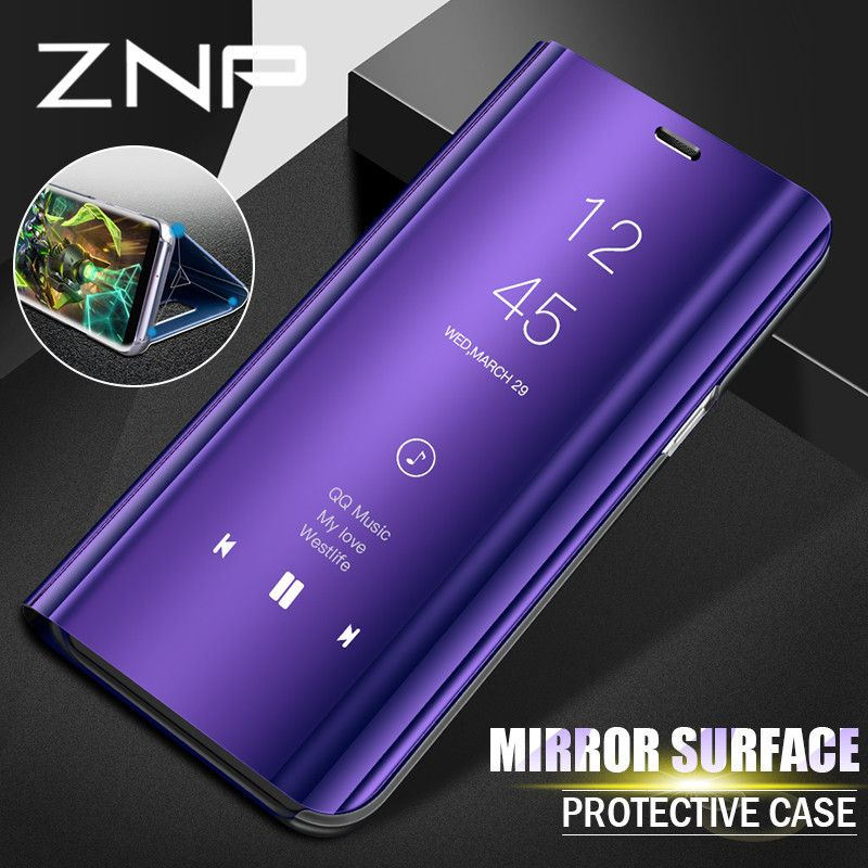 Znp Smart View Case For Samsung Galaxy S9 S8 Plus S9 Luxury Flip Stand Phone Cover For Samsung S7 Edge Note 8 S8 S9 Case Shell Samsung Galaxy Flip Phone Case Samsung