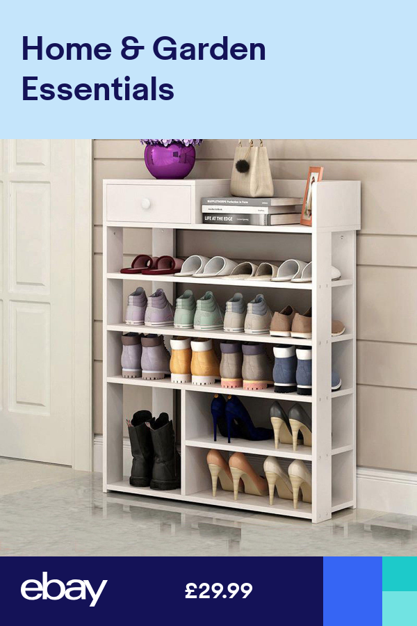 Large Wood 6 Tiers Shoe Rack Storage Footwear Cabinet Shelf Stand 1 Cabinet Unit Muebles Para Espacios Pequenos Muebles Para Zapatos Muebles Para Casa