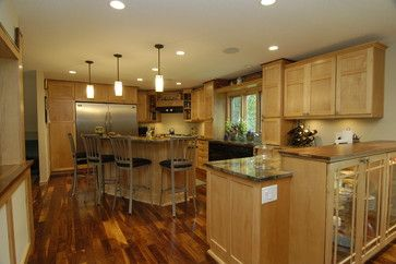 Kitchens Natural Maple Cabinets Design Ideas Pictures Remodel And