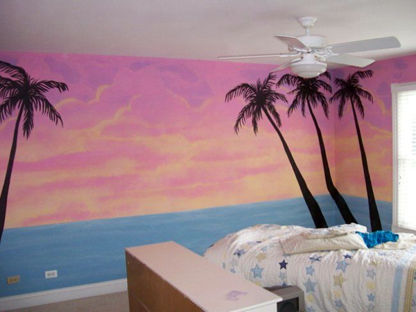 Excellent Beach Themed Girls Rooms Tropical Jungle Themed Girls Hula Largest Home Design Picture Inspirations Pitcheantrous