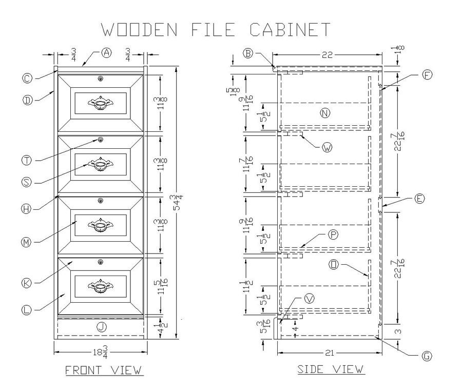 Wooden File Cabinet | Ideas for lake house remodel | Wooden file cabinet, Cabinet plans, Filing ...