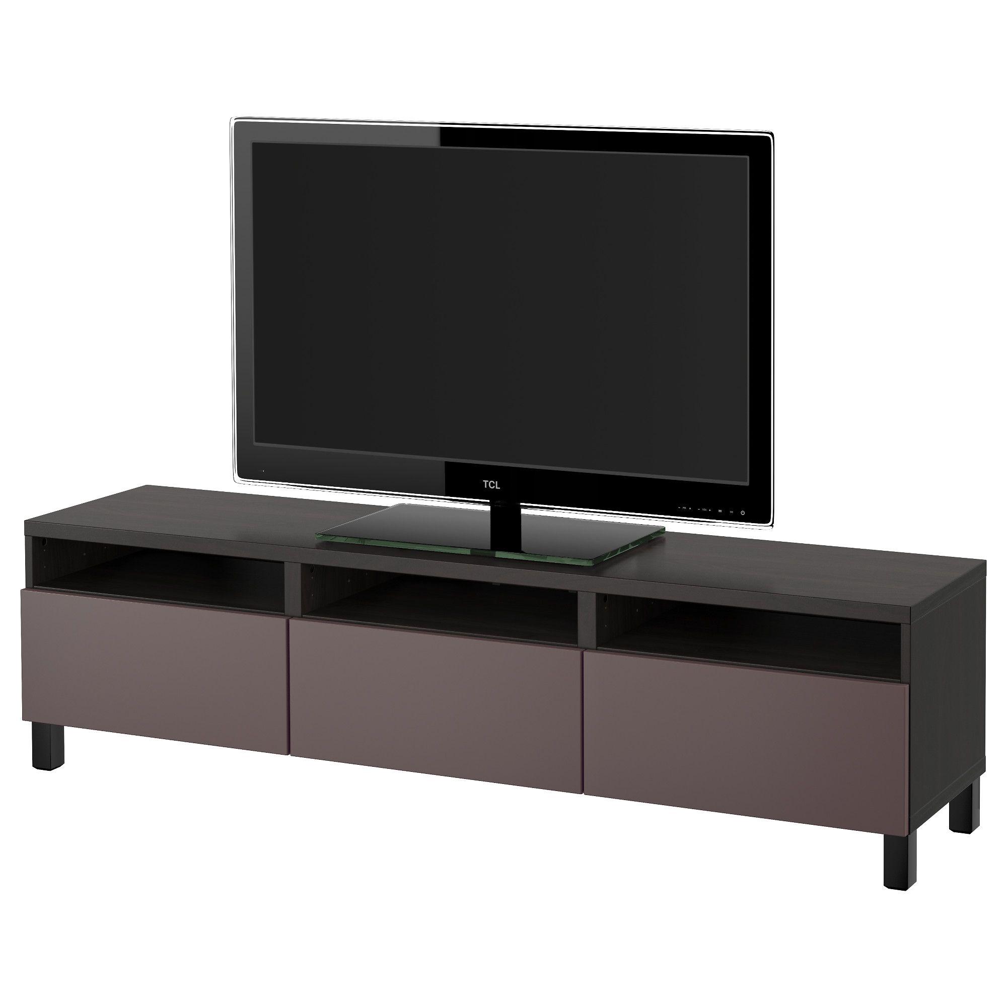 BEST… TV Bank mit Schubladen schwarzbraun dunkelbraun Jetzt bestellen unter s