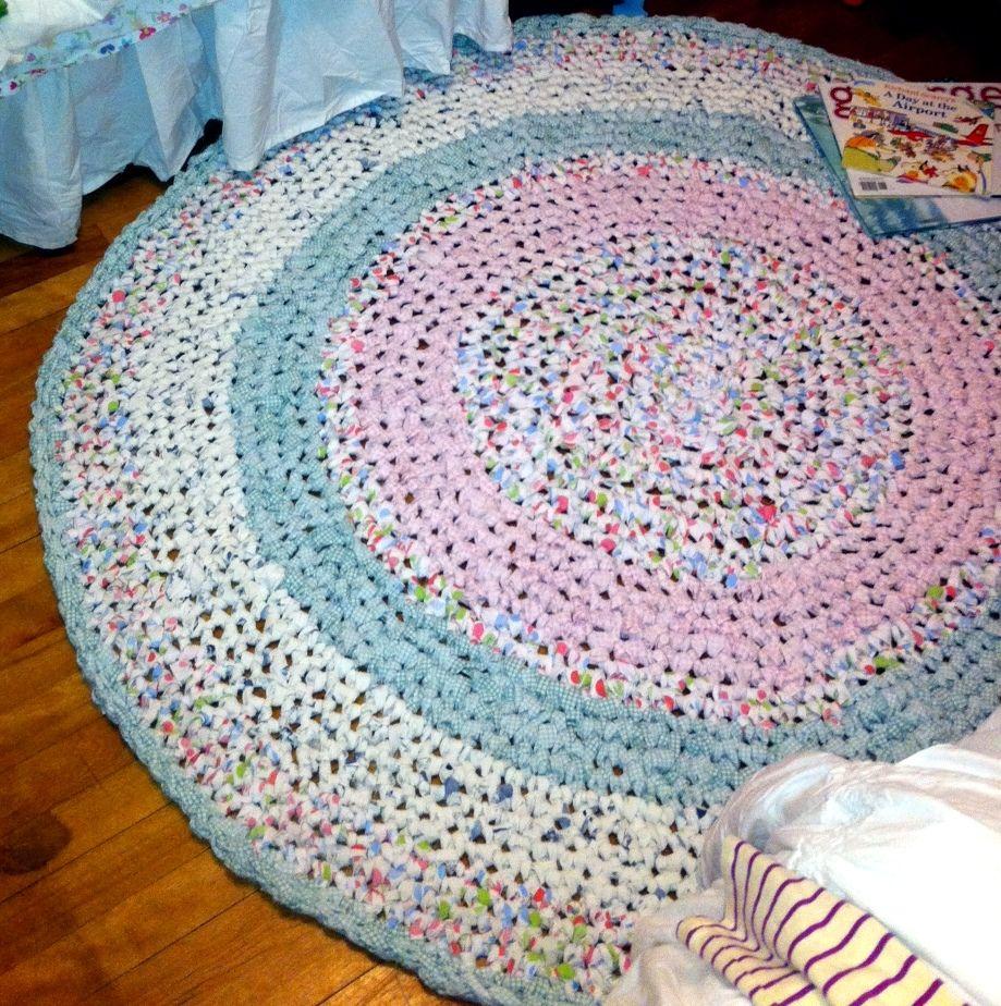 Crochet Rag Rug....made By Moi...