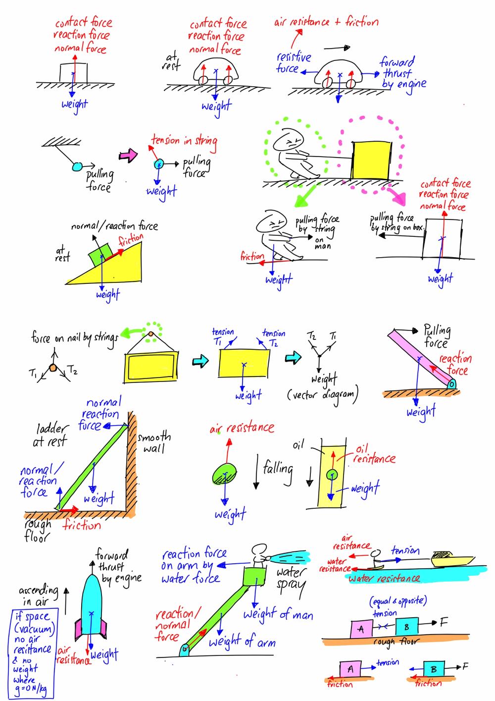 Free Body Diagram Body Diagram Basic Physics Physics And Mathematics