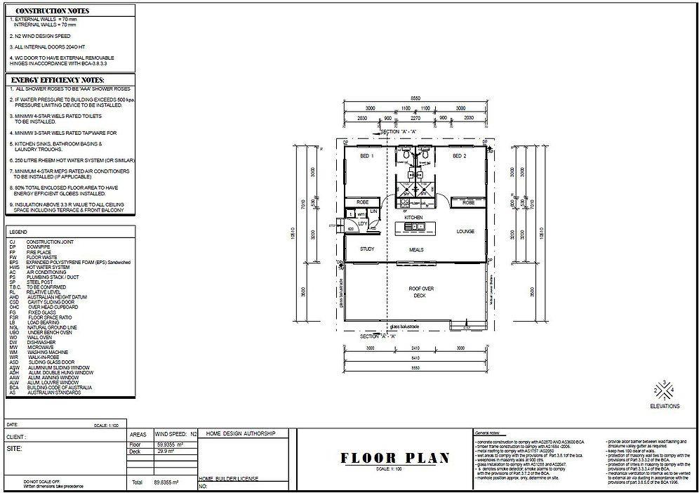 89 2 Bed Study Granny Flat Plans 89 8 M2 Preliminary House Plan Set Buy Here Australianfloorplans 2 Bedroom House Plans House Plans Bedroom House Plans