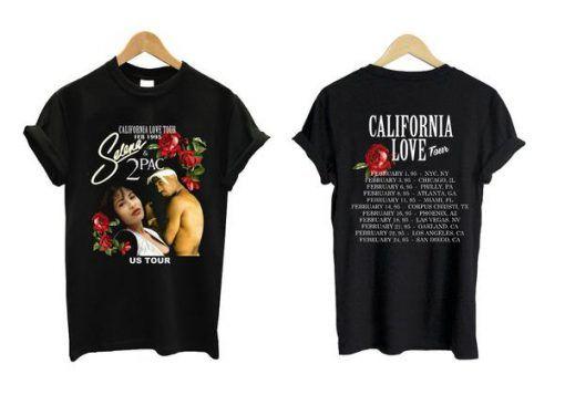 ced18ff08cb6 California Love Tour Selena Tupac Tshirt in 2019 | Fashion outfits ...