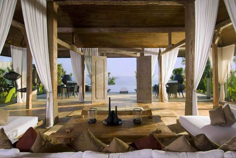 Gorgeous Glass Beach House Design Of Vibrant Display Rustic Elegant Balinese Designs Wooden