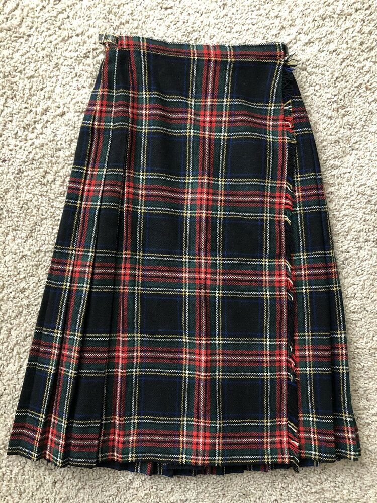42b0e81f03 (Advertisement)eBay- Vintage Brooks Brothers Wool Tartan Skirt Size 10 Red  Plaid Long
