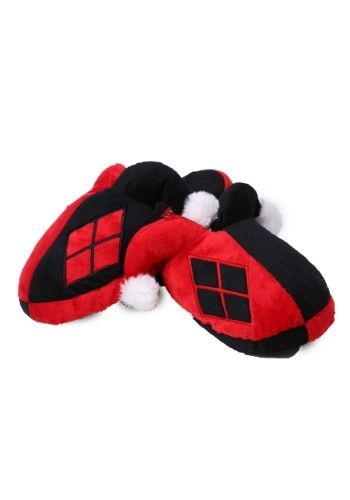 8141cb51276f This pair of Harley Quinn Slippers will keep your feet warm while planning  how you re going to win the cold hearted Joker s attention!