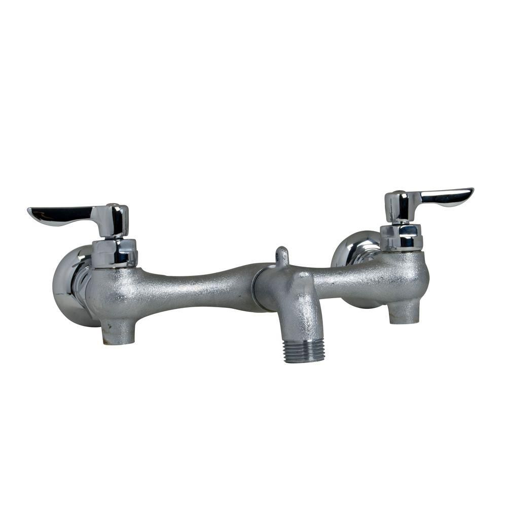 American Standard Exposed Yoke Wall Mount 2-Handle Utility Faucet in ...