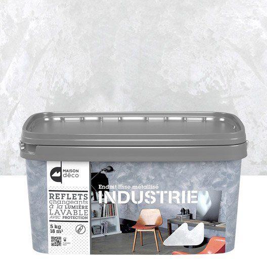 Enduit Decoratif Industrie Maison Deco Fer Blanc 5 Kg Salon Mezzanine Enduit Decoratif Deco
