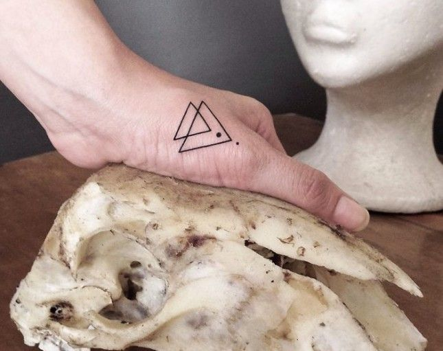 20 Minimalist Tattoos for the Design Lover via Brit + Co.
