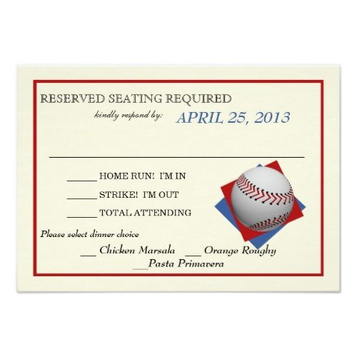 Sport Wedding RSVP Invitations Vintage Baseball Wedding Reply Card - best of invitation cards for wedding price