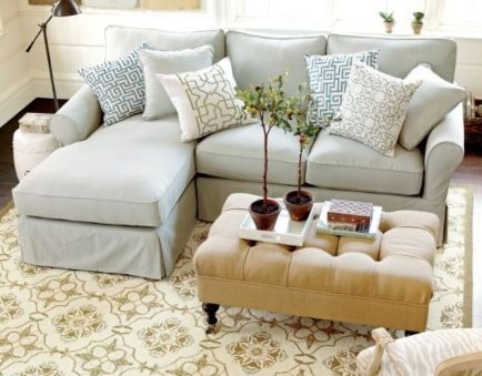 Ballard Designs Baldwin Sectional Slipcover With Right Arm Chaise Spa Linen Love