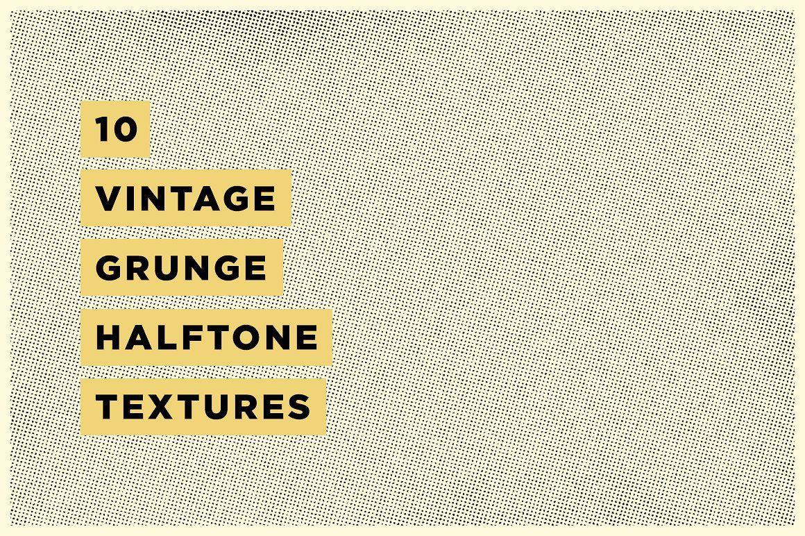 10 Vintage Grunge Halftone Textures Vintage Grunge Halftone Texture Graphic Design