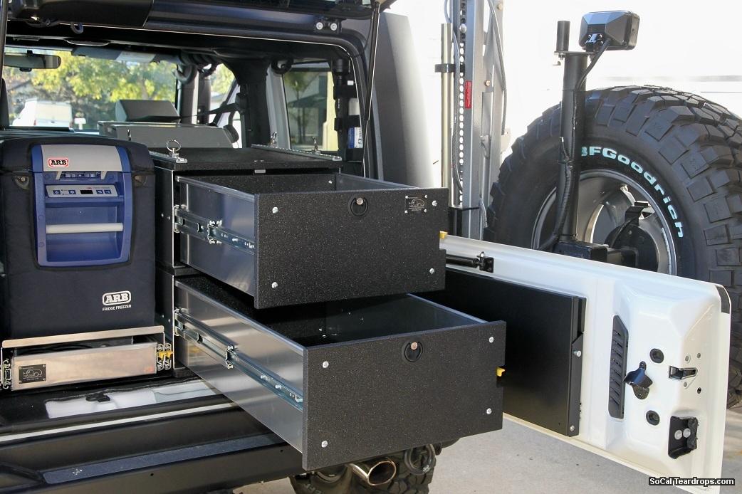 Sct Gear Cache Storage Drawers 24 X20 X12 Red Jeep