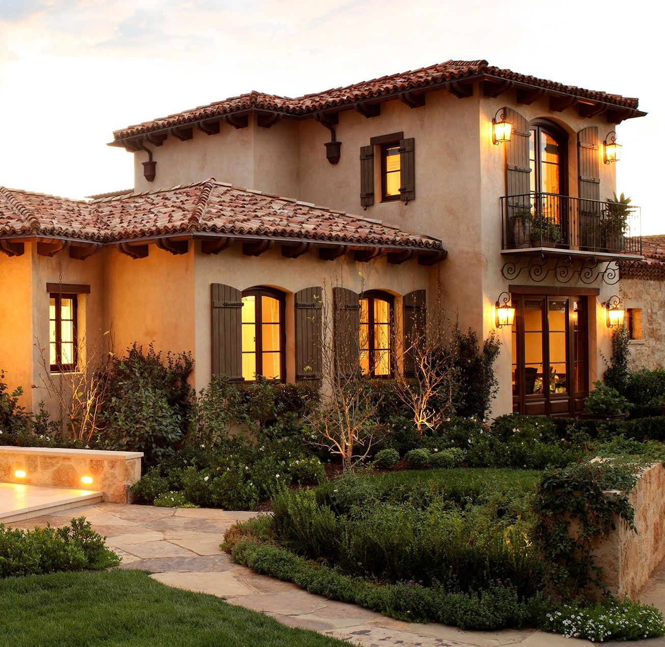 Tuscan Mediterranean House Colors Exterior