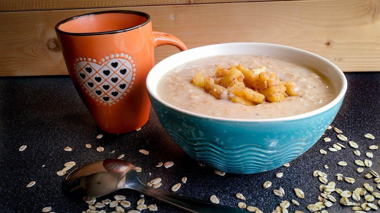 طريقة عمل الشوفان بالحليب و التفاح المعسل Oatmeal With Milk Https Youtu Be Clniuvviqou