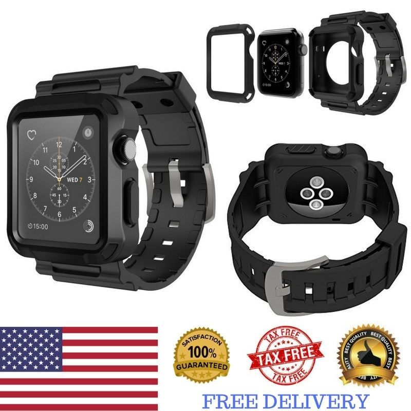 Apple Watch Protective Cover Heavy Duty Rugged Case Strap Band 42mm Series 123 Simpeak Durablepolycarbonatehards Protective Cases Apple Watch Apple Watch 3