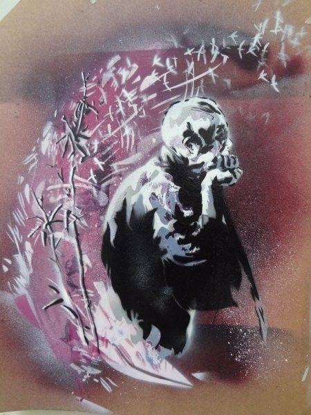 MJA est un artiste graffeur marseillais qui dépeint dans ses