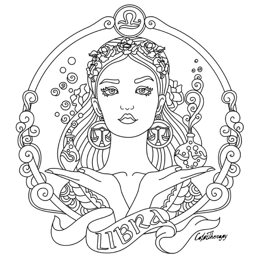 - Pin On ✐ Zodiac Signs Colouring Coloring Pages