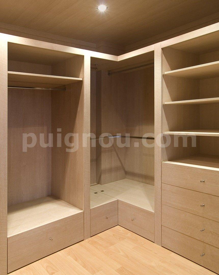 Dise o de armarios cajoneras puertas y estanterias para for Armarios dormitorio diseno