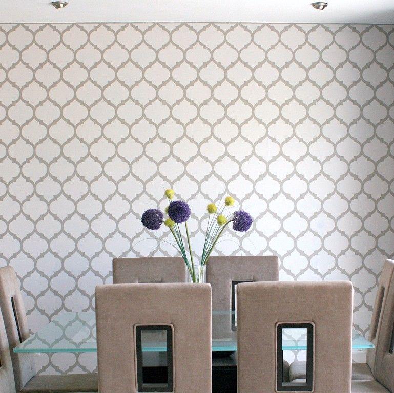 Quieres tus paredes con papel tapiz o vinilos pero a un costo mucho menor p nta y decora al - Plantillas de decoracion ...