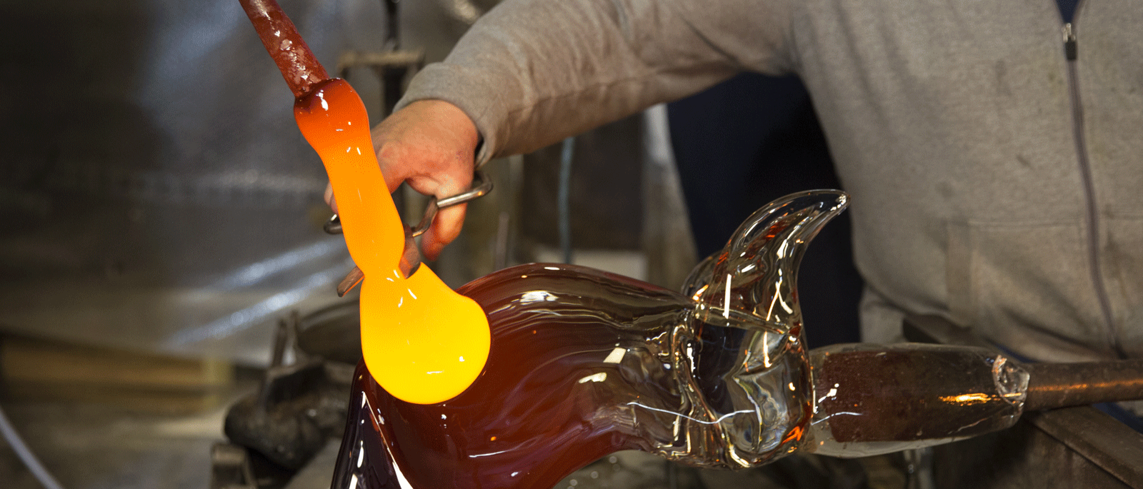 """Oscar Zanetti was born in Murano in 1961. One of his ancestors, Abbott Zanetti, was the founder of the Museo del Vetro (Museum of Glass) and opened the Scuola del Vetro (Glass School) in the 19th Century. Oscar began working with glass at the age of 14 while attending the local art high school. He started out as an assistant or """"serventino"""" and perfected his technique at some of the most prestigious Murano glass ateliers, including Venini and La Murrina, before joining the family workshop…"""