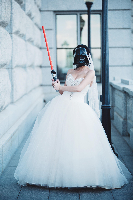 Darth #Vader #Bride #Bridals | My Italian Wedding <3 | Pinterest ...