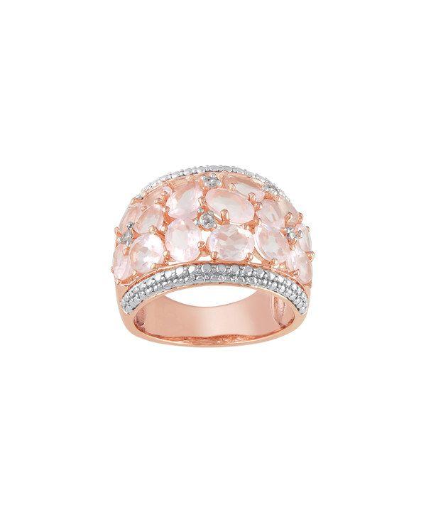 Rosamaria G Frangini | High Pink Jewellery | Rose Quartz & Diamond Mosaic Ring